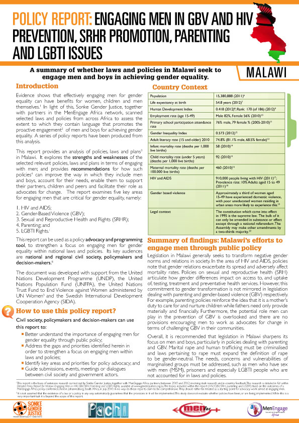 Malawi Policy Report