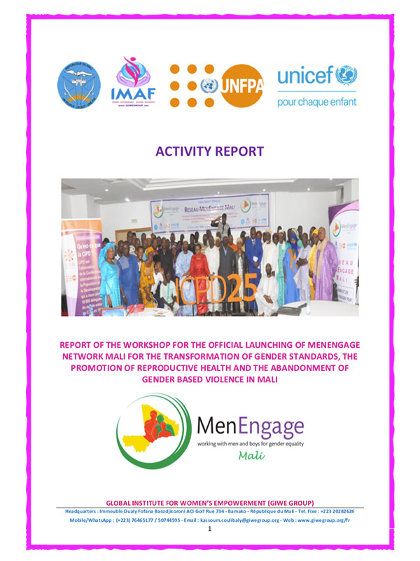 Final Report Launching MenEngage Mali