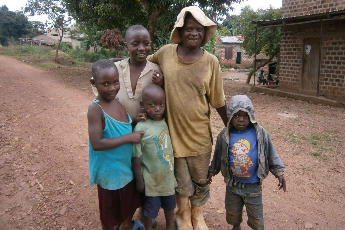 African Family Children Father