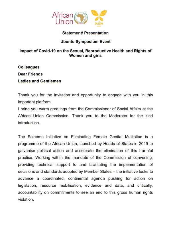 Statement Ubuntu Symposium Event