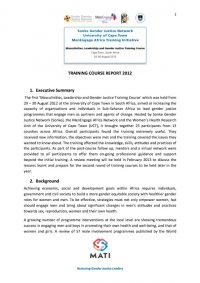 MATI Training Course Report 2012