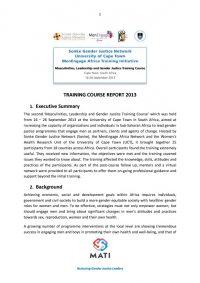 MATI Training Course Report 2013