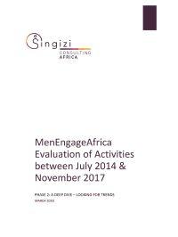 Singizi Evaluation MEA Phase 2